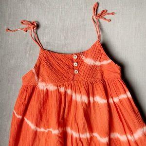 Tie Dye Summer Dress GAP KIDS Burnt Orange MD
